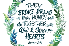 Acts 2.46 Art small