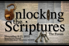 Unlocking the Scriptures.The Forum