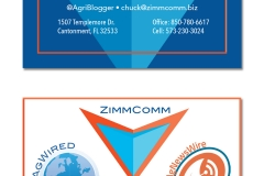 ZimmComm Business Card Display